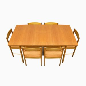 Mid-Century Teak Extendable Dining Table and 6 Chairs from McIntosh