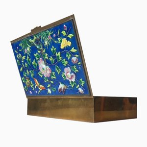 Chinesische Mid-Century Cloisonné Emaille Box