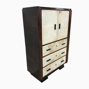 Art Deco Italian Parchment Cabinet, 1930s