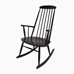 Rocking Chair in Beech by Roland Rainer, 1950s