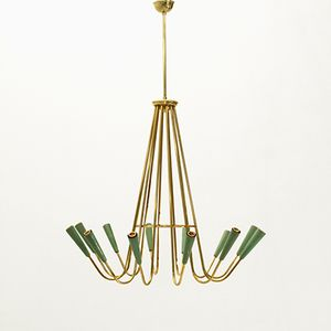 Mid-Century Italian Twelve Lights Chandelier