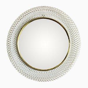 Mid-Century Braided Metal Mirror