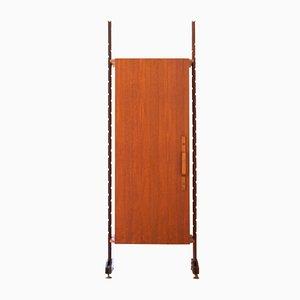 Italian Rosewood, Mahogany, & Brass Cabinet, 1950s