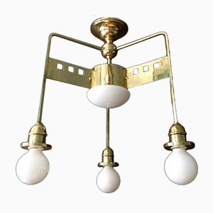 Vintage Art Nouveau Wiener Secession Ceiling Lamp