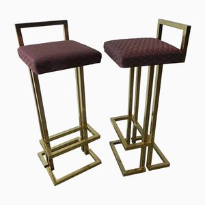 Vintage French Bar Stools, 1970s, Set of 2