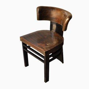 Chaise en Bois Teinté par Vittorio Valabrega, 1930s