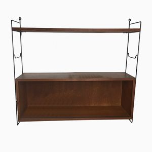 Vintage Teak Wall Shelf by Nisse Strinning for String, 1960s