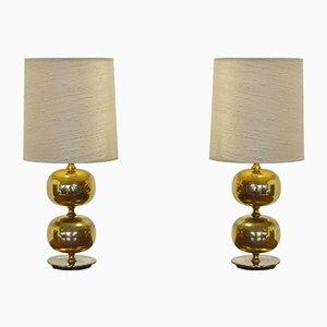 Vintage Brass Table Lamps by Henrik Blomqvist for Tranås Stilarmatur, Set of 2