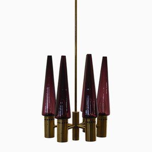 Vintage Purple Chandelier by Hans-Agne Jakobsson