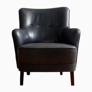 Danish Leather Armchair, 1960s