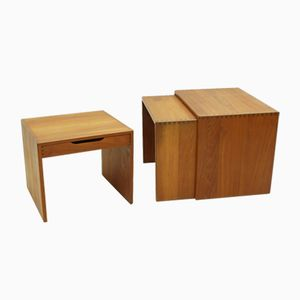 Solid Teak Nesting Tables, 1960s