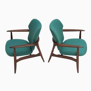 Dänische Mid-Century Sessel aus Organischem Teak & De Ploeg Wolle von Aksel Bender Madsen für Bovenkamp