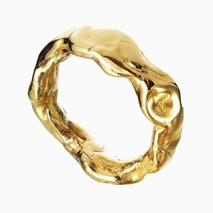 Gold Coated Resin Bangle by Philippe Cramer, 2010