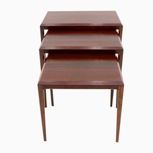 Rosewood Nesting Tables by Johannes Andersen for Silkeborg, 1960s