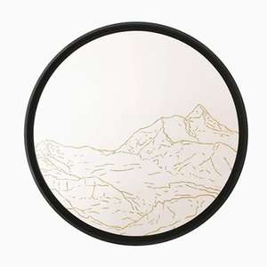 Jungfrau Golden Landscapes Tapestry with Gold Thread by Philippe Cramer, 2012