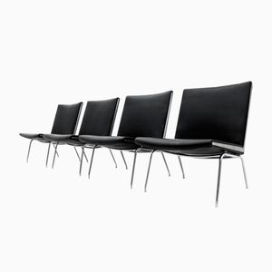 AP-40 Airport Chairs by Hans J. Wegner for AP-Stolen, 1950s, Set of 4