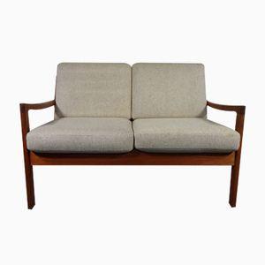 Mid-Century Senator Teak 2- Seater Sofa by Ole Wanscher for France & Son