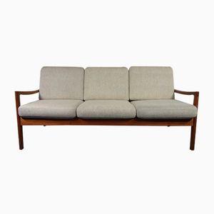 Mid-Century Danish Senator Teak 3- Seater Sofa by Ole Wanscher for France & Son