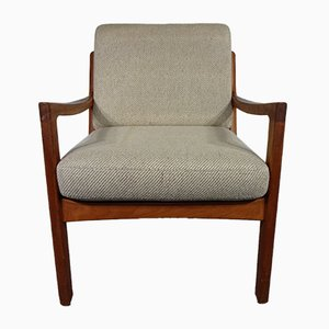 Mid-Century Danish Senator Teak Armchair by Ole Wanscher for France & Søn