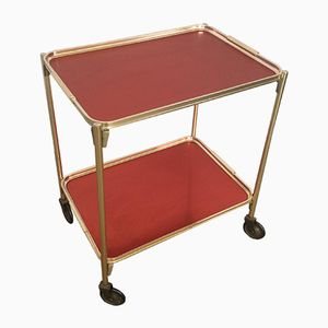 Red Serving Trolley from Woodmet, 1960s