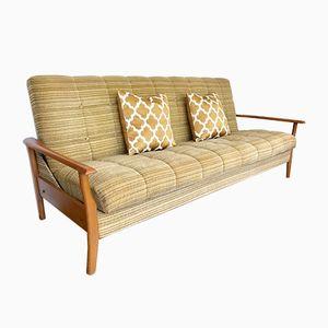 Vintage Day Bed with Wooden Armrests