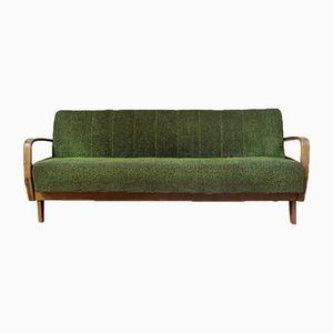 Grünes Vintage Schlafsofa