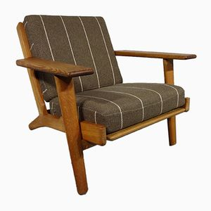 GE-290 Oak Armchair by Hans J. Wegner for Getama, 1950s