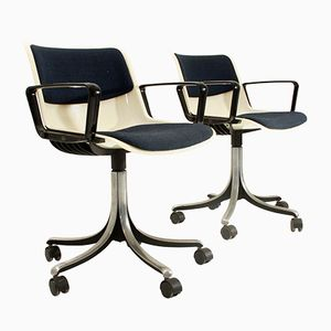 Modus Office Chairs by Centro Progetti Tecno for Tecno, 1970s, Set of 2