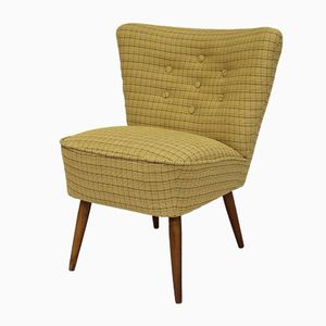 Vintage Yellow Cocktail Chair, 1950s
