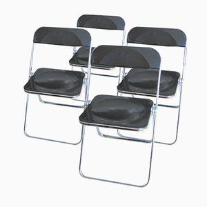 Plia Stühle von Giancarlo Piretti für Castelli, 1970er, 4er Set