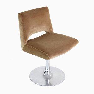 Französischer Samt Tulip Chair, 1970er