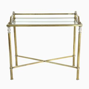 Vintage French Brass & Glass Desk