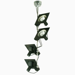 Italian 4-Light Adjustable Pendant Lamp by BJ Milano Design, 1970s