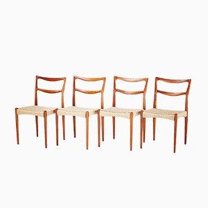 Teak Esszimmerstühle von Johannes Andersen, 1950er, 4er Set