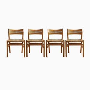 Vintage BM 1 Eichenholz Stühle von Børge Mogensen für C.M. Madsens Fabrikker, 4er Set