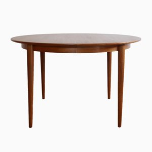 Vintage Danish Round Dining Table from Skovmand & Andersen, 1960s