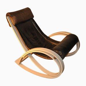 Rocking Chair Vintage par Gae Aulenti pour Poltronova