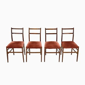 Mid-Century Leggera Chairs by Gio Ponti for Cassina, Set of 4