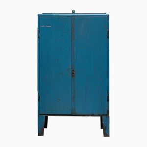 Vintage Industrial Hungarian Blue Cabinet, 1960s