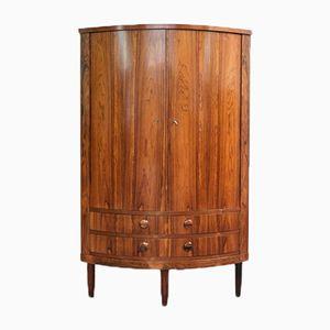 Vintage Danish Corner Cabinet in Rosewood
