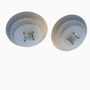 Italian Ceiling Lamps by Sergio Mazza for Quattrifolio, 1989, Set of 2