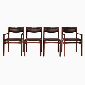 Danish Rosewood Dining Chairs from Sax Mobler, 1960s, Set of 4