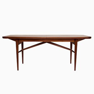 Mid-Century Extending Dining Table in Walnut and Teak by Robert Heritage for Archie Shine