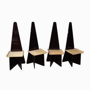 Lackierte Italienische Vintage Stühle von Claudio Salocchi für Sormani, 4er Set