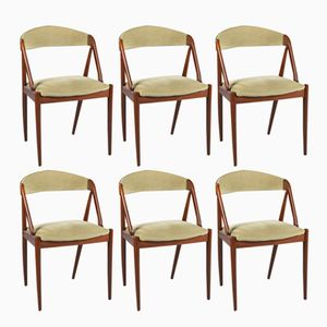 Vintage Teak Chairs by Kai Kristiansen, 1960s, Set of 6