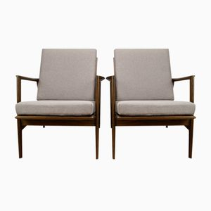 Model 300-139 Armchairs from Swarzędzka 1960s, Set of 2
