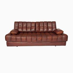 DS85 Sofa oder Schlafsofa aus Braunem Leder von de Sede, 1960er