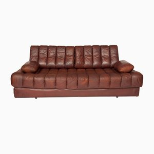 DS85 Sofa or Daybed in Brown Leather from de Sede, 1960s