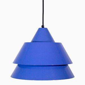 Vintage Blue Zone Hängelampe von Jo Hammerborg für Fog & Mørup