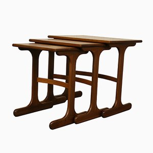 Mid-Century British Teak Fresco Nesting Tables from G-Plan